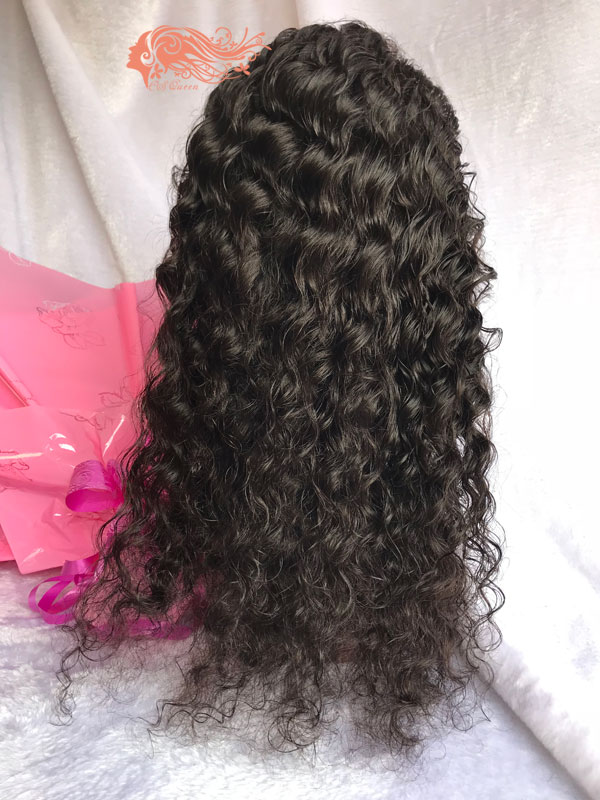 Csqueen Mink hair Water Wave Full lace WIG 100% Virgin Human Hair 150%density