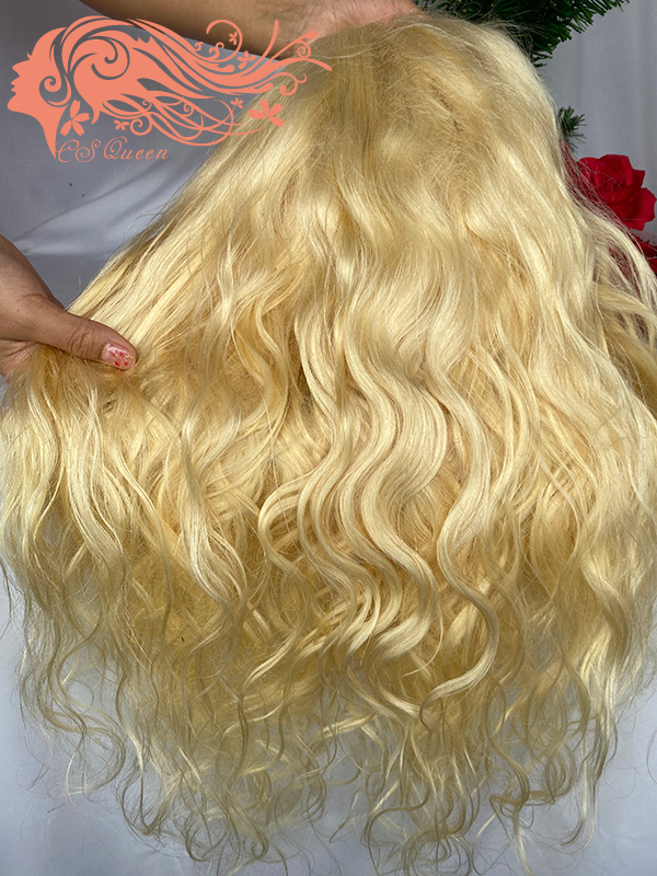 Csqueen 9A hair Body Wave 4*4 Closure WIG #613 Blonde 100% Virgin Hair 180%density