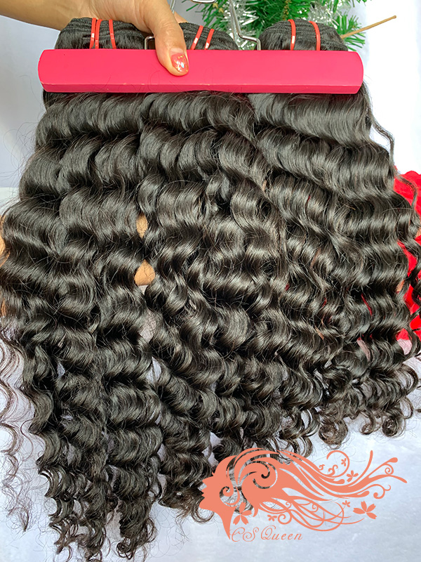 Csqueen Raw Bounce Curly 3 Bundles 100% Human Hair Unprocessed Hair