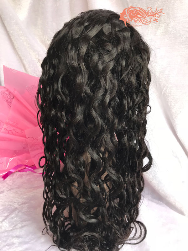 Csqueen Mink hair French Curly Full lace WIG 100% Virgin Hair human hair 150%density