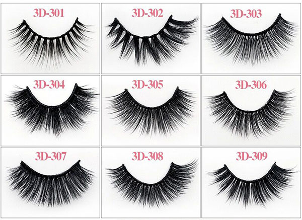 High Volume Lashes 3D Human Hair Eyelashes/3D Mink Lash (1 Pairs/1 Pack)