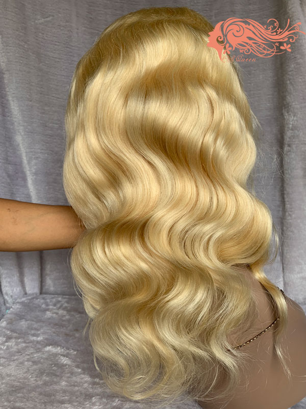 Csqueen Mink hair Body Wave Full lace WIG #613 Blonde 100% Virgin Hair 150%density