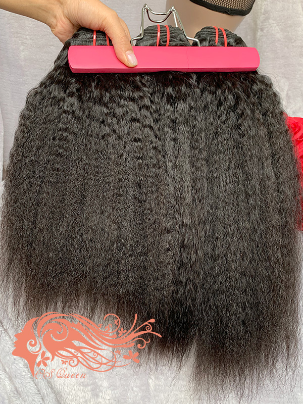 Csqueen Mink Kinky Straight Hair Weave 7 Bundles Unprocessed 100% Human Hair