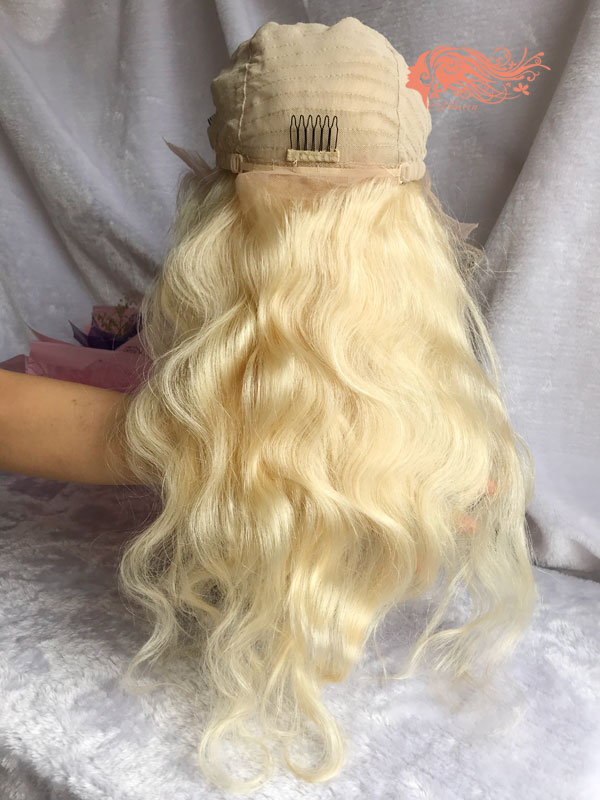Csqueen Mink hair Body Wave Frontal WIG #613 Blonde 100% Virgin Hair 150%density