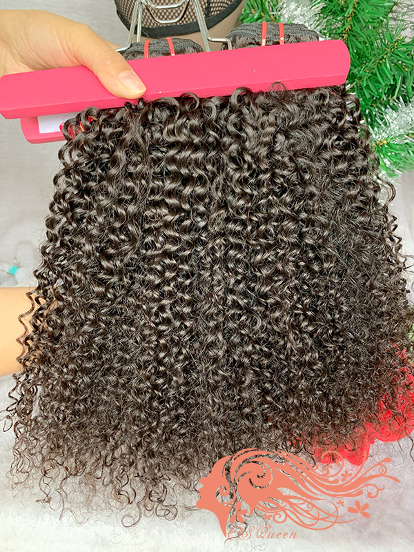 Csqueen Mink hair Afro Kinky curly Wefts Brazilian Virgin hair 100% Human Hair