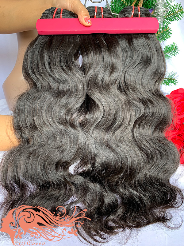 Csqueen Mink hair Body Wave 6 Bundles Natural Black Color 100% Human Hair