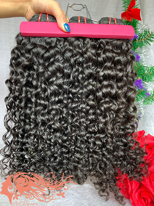 Csqueen Mink hair Exotic Wave Hair Weave Brazilian Human hair