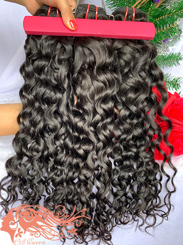 Csqueen Mink hair French Curly Hair Weave 10 Bundles Virgin Human Hair