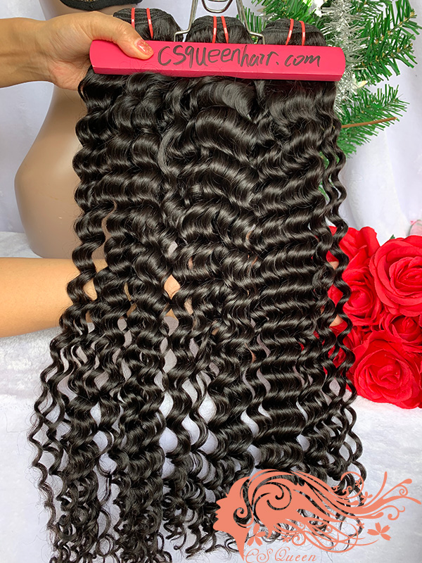 Csqueen Mink hair Italian Wave 100% Human Hair Extensions Virgin hair