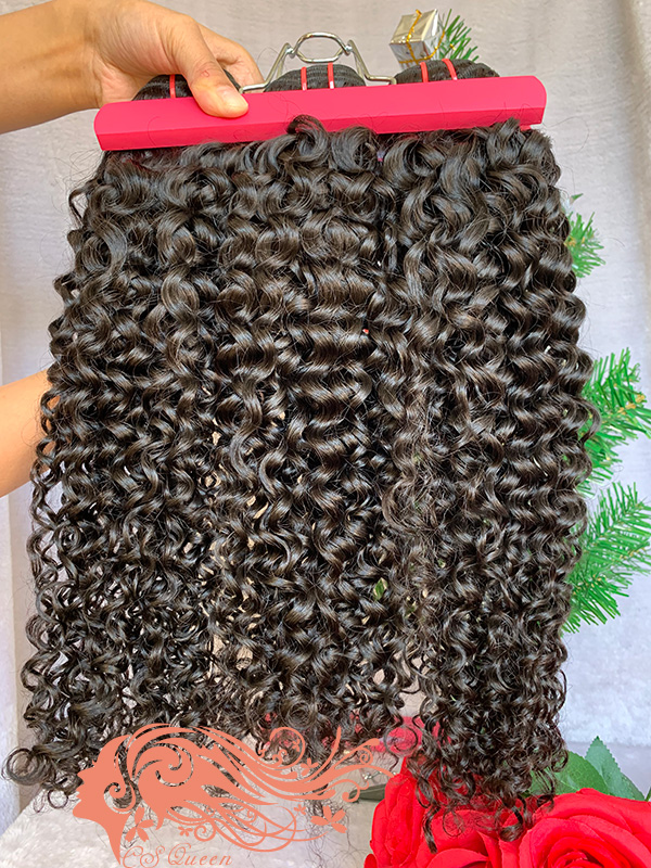 Csqueen Mink hair Jerry Curly Hair Weave 6 bundle Virgin Human Hair