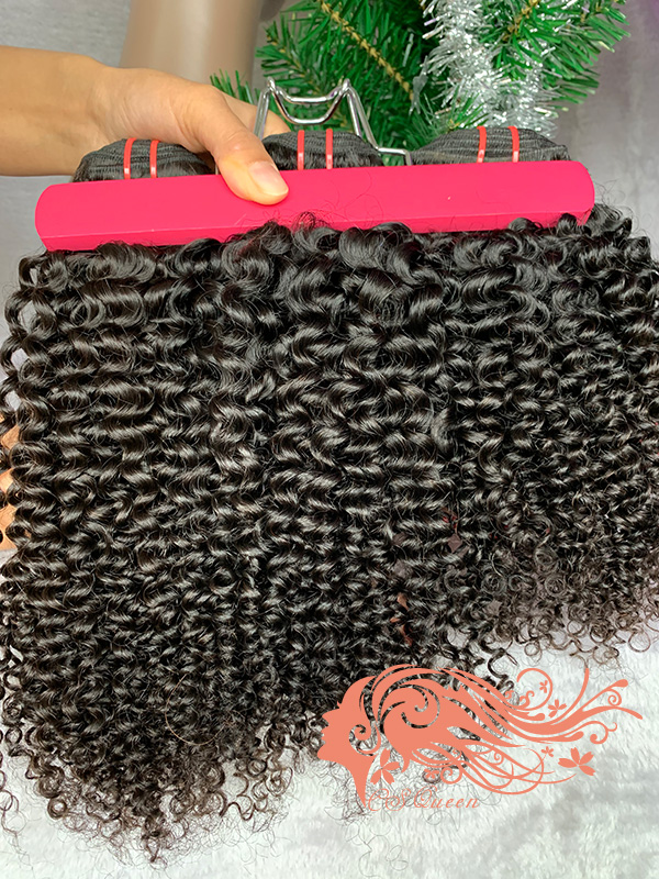 Csqueen Mink hair Kinky Curly Virgin Hair Extensions Human Hair