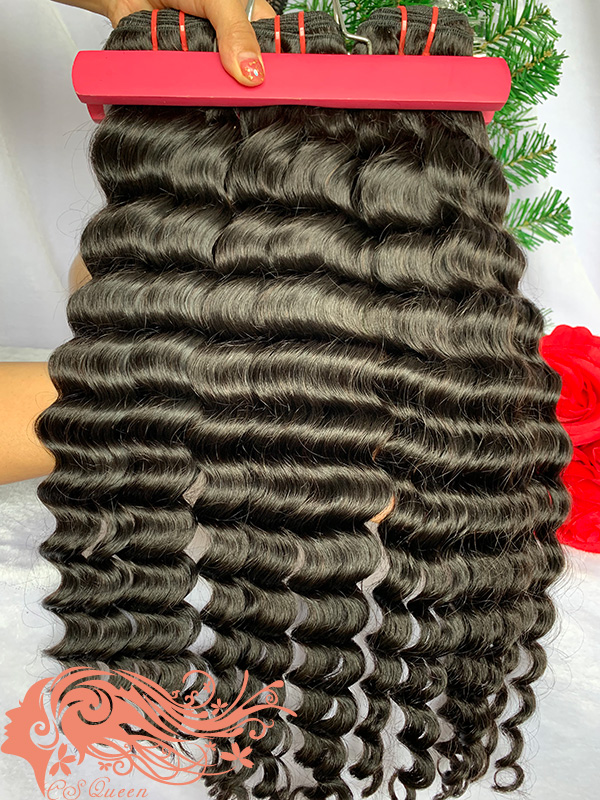 Csqueen Mink hair Loose Curly 6 Bundles 100% Human Hair Virgin Hair