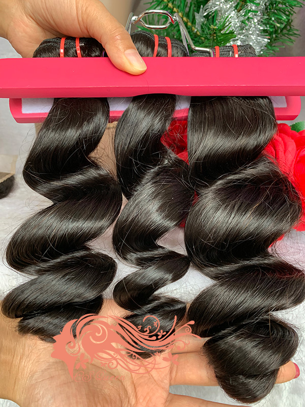 Csqueen Mink hair Loose Wave Hair Weave 6 Bundles Virgin Human Hair