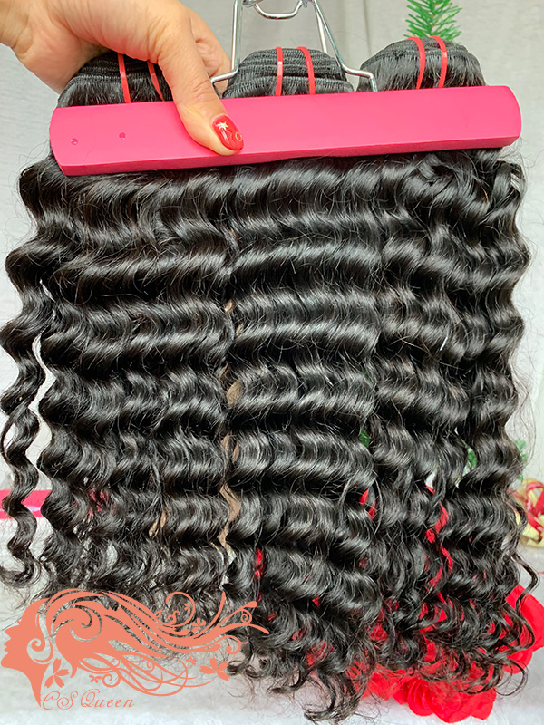 Csqueen Mink hair Water Wave 7 Bundles Natural Black Color 100% Human Hair
