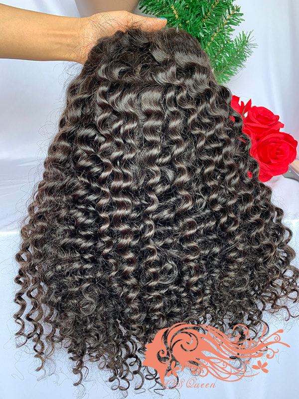 Csqueen Raw Bounce Curly U part wig 100% Human Hair 180%density