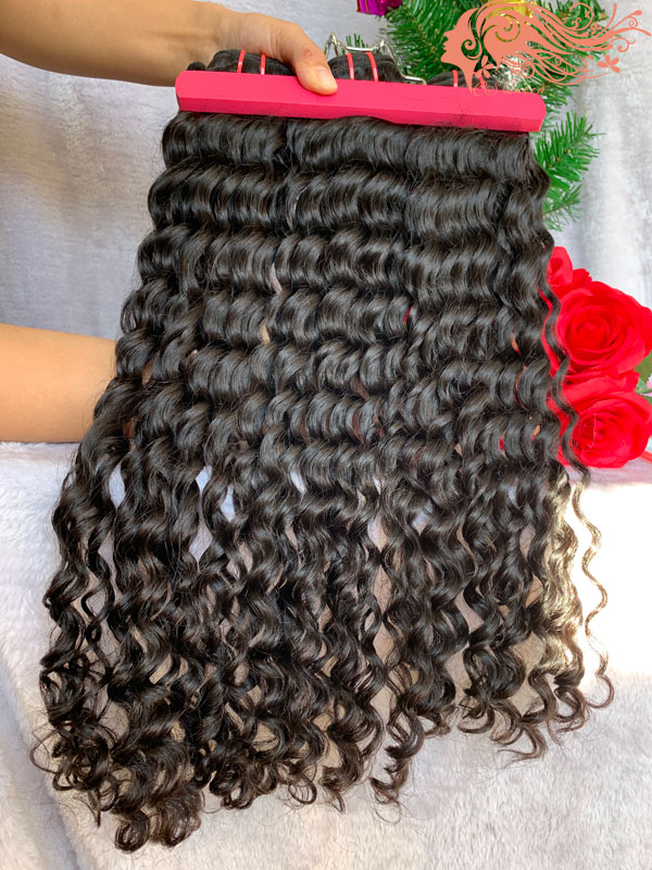 Csqueen Raw Bouncy Curly Raw hair 100% Human Hair Unprocessed Hair