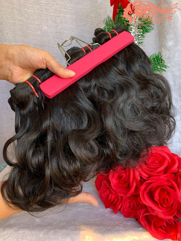 Csqueen Raw Light Wave 3 Bundles with Frontal Unprocessed hair