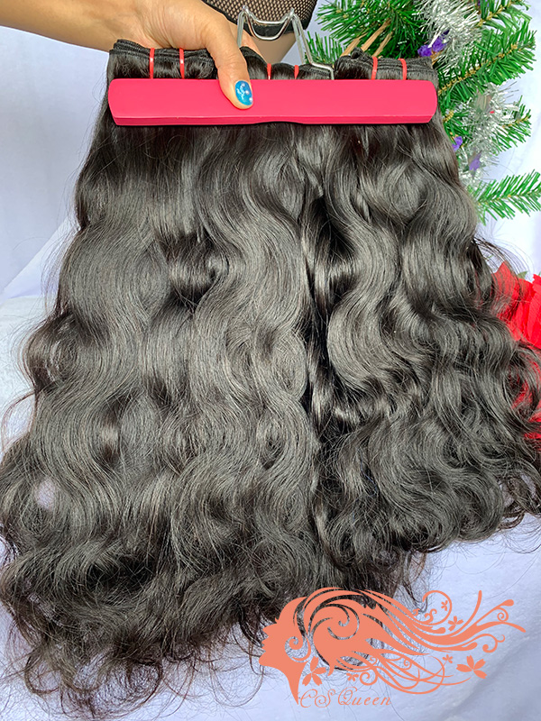 Csqueen Raw Light Wave 3 Bundles Unprocessed Human Hair