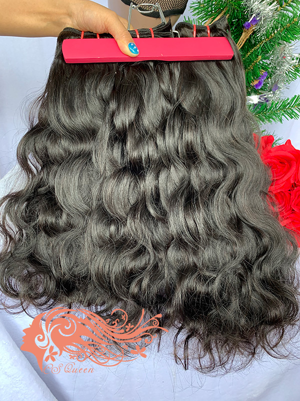 Csqueen Raw Light Wave 4 Bundles Unprocessed Human Hair