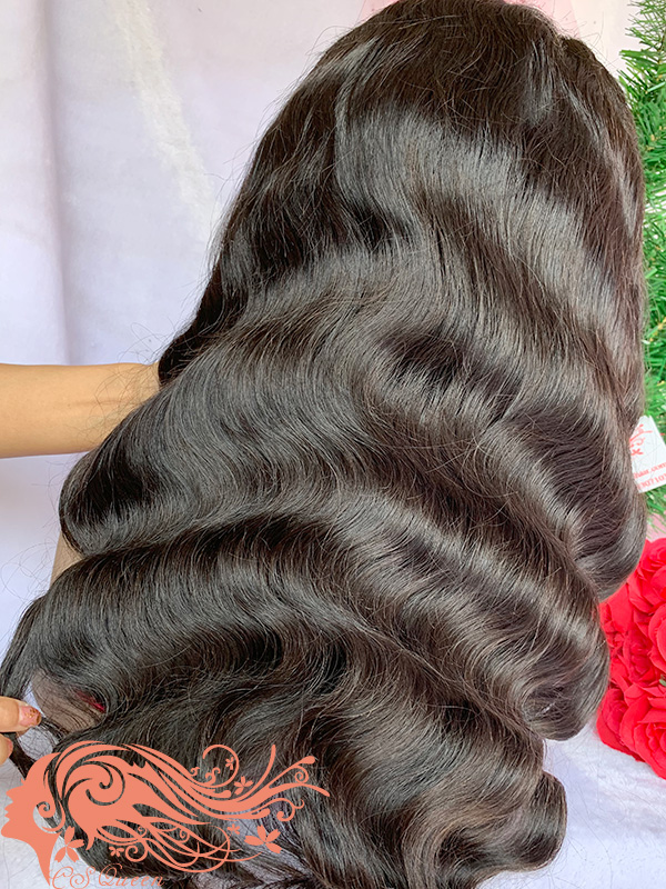 Csqueen Raw Light Wave Full lace WIG 100% Human Hair 200%density