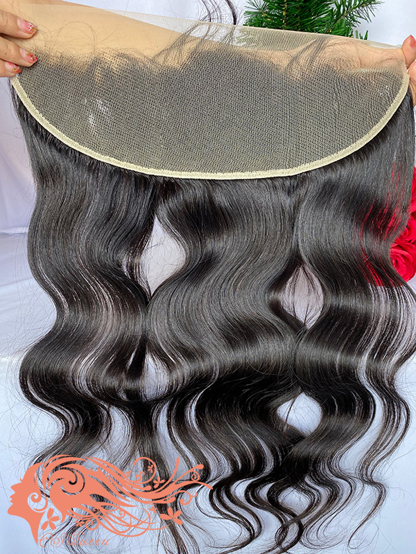 Csqueen Raw Light Wave 13*4 Transparent lace Frontal 100% Unprocessed Hair
