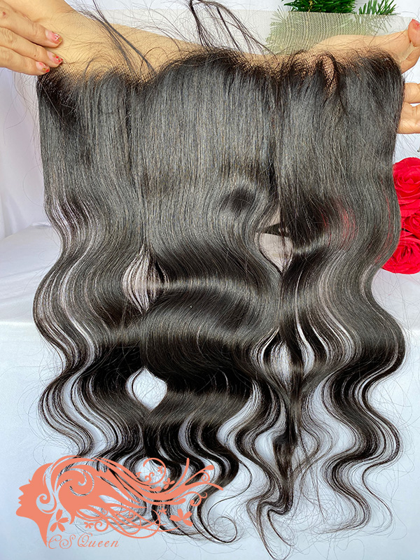 Csqueen Raw Light Wave Transparent lace 13*4 frontal Light Brown 100% Unprocessed Hair