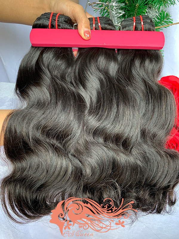 Csqueen Raw Line Wavy 3 Bundles Virgin Hair 100% Unprocessed Human Hair