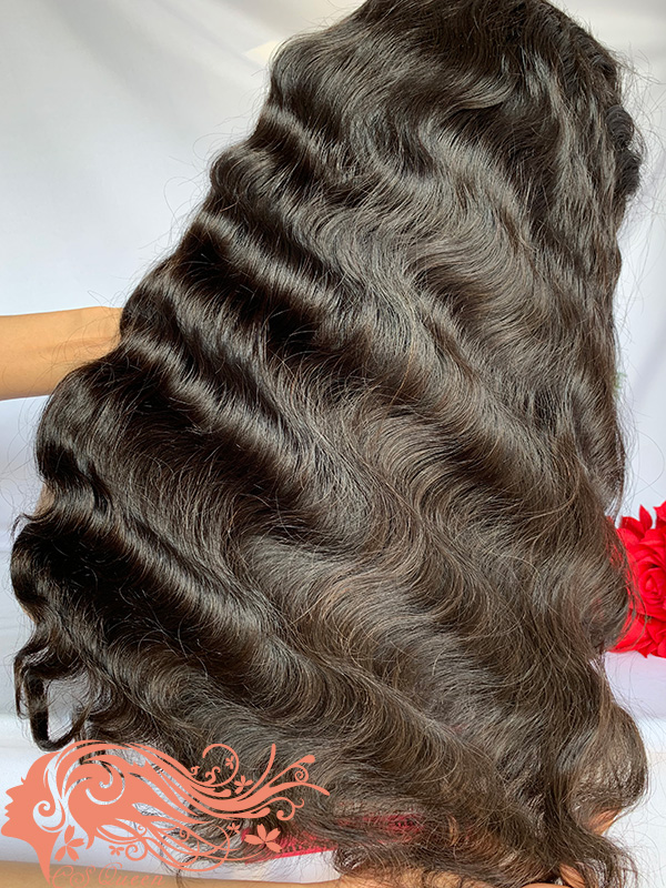 Csqueen Raw Line Wavy Full lace WIG 100% Raw Hair 200%density