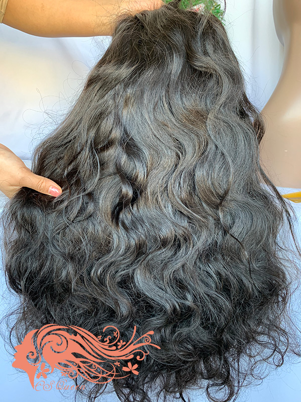 Csqueen Raw Line Wavy U part wig 100% Raw Hair 180%density