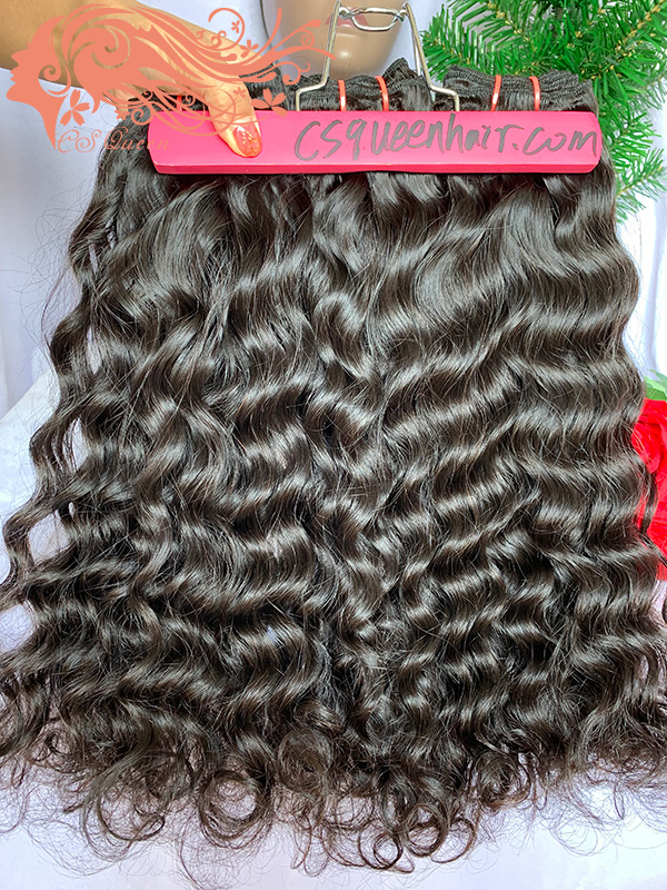 Csqueen Raw Mermaid Wave 4 Bundles 100% Human Hair Unprocessed Hair