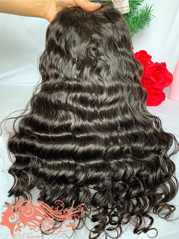 Csqueen Raw Mermaid Wave Full lace WIG 100% Raw Hair 150%density