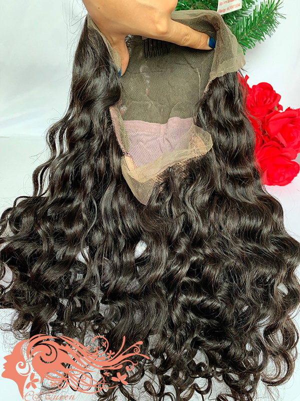 Csqueen Raw Mermaid Wave Full lace WIG 100% Raw Hair 200%density