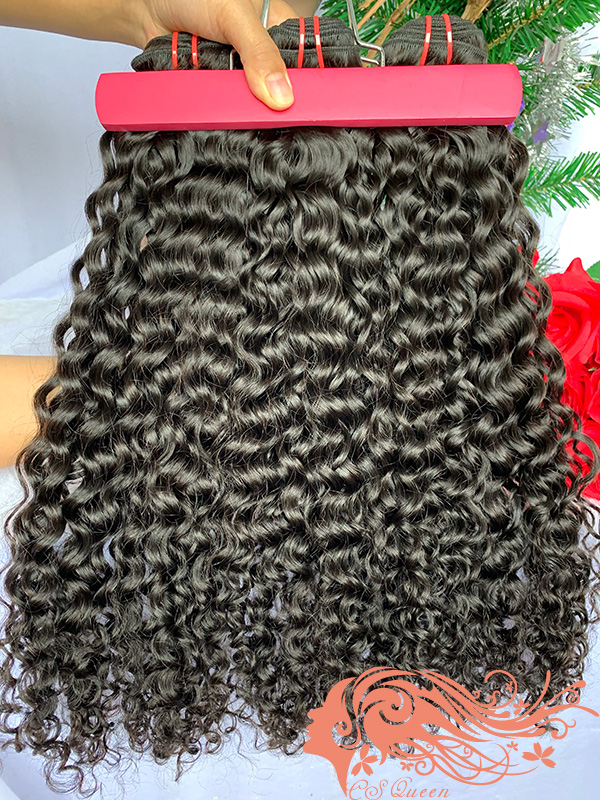 Csqueen Raw Natural Curly 8 Bundles 100% Human Hair Unprocessed Hair