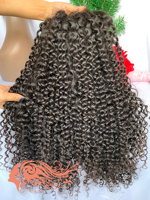 Csqueen Raw Natural Curly U part wig 100% Human Hair 180%density