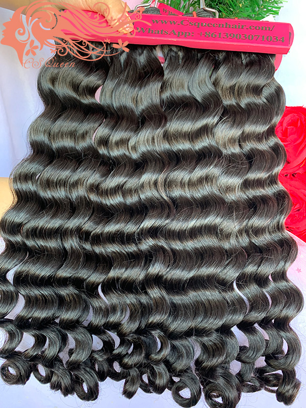 Csqueen Raw Rare Wave 14 Bundles 100% Human Hair Unprocessed Hair