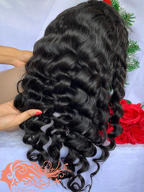 Csqueen Raw Rare Wave Full lace WIG 100% Raw Hair 150%density