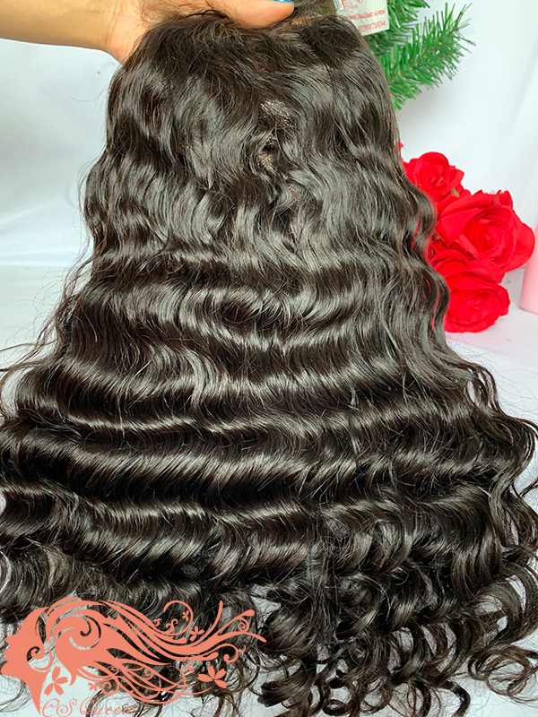 Csqueen Raw Rare Wave Full lace WIG 100% Raw Hair 200%density