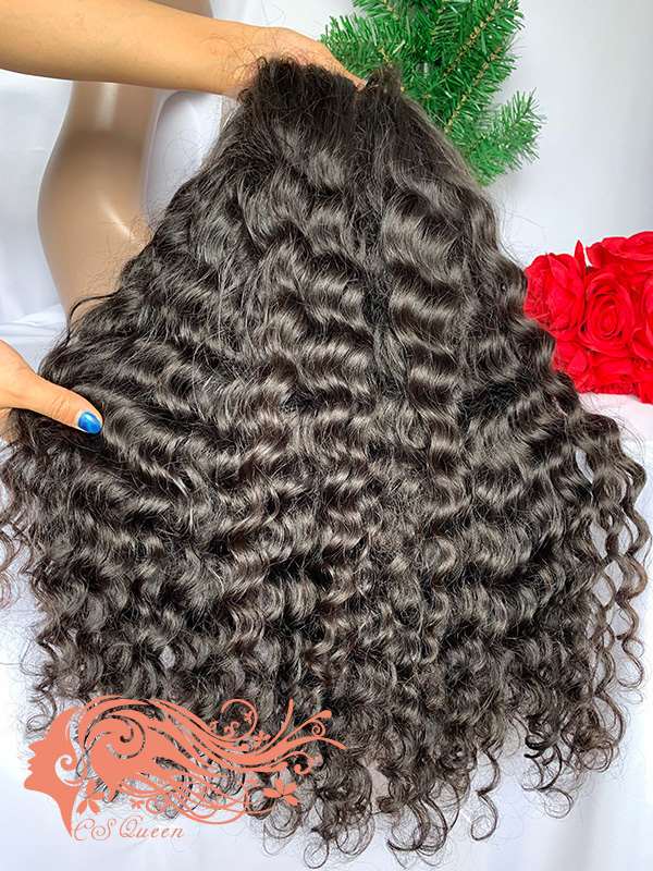 Csqueen Raw Rare Wave U part wig 100% Raw Hair 180%density