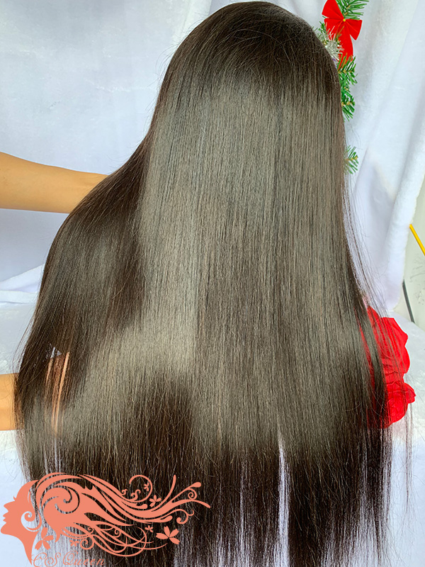 Csqueen Raw Straight Full lace WIG 100% Raw Hair 150%density