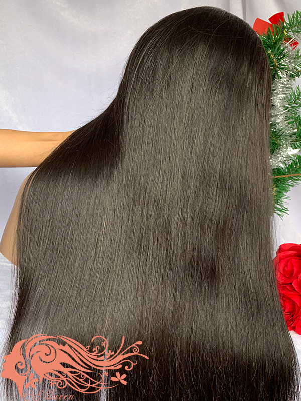 Csqueen Raw Straight Full lace WIG 100% Raw Hair 200%density