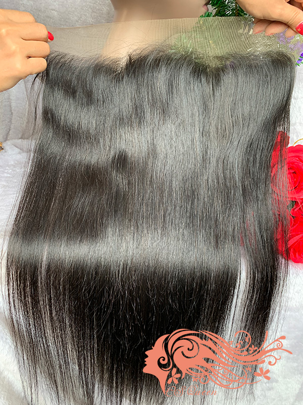 Csqueen Raw Straight Raw hair 13x4 Light Brown Lace Frontal 100% Unprocessed Hair