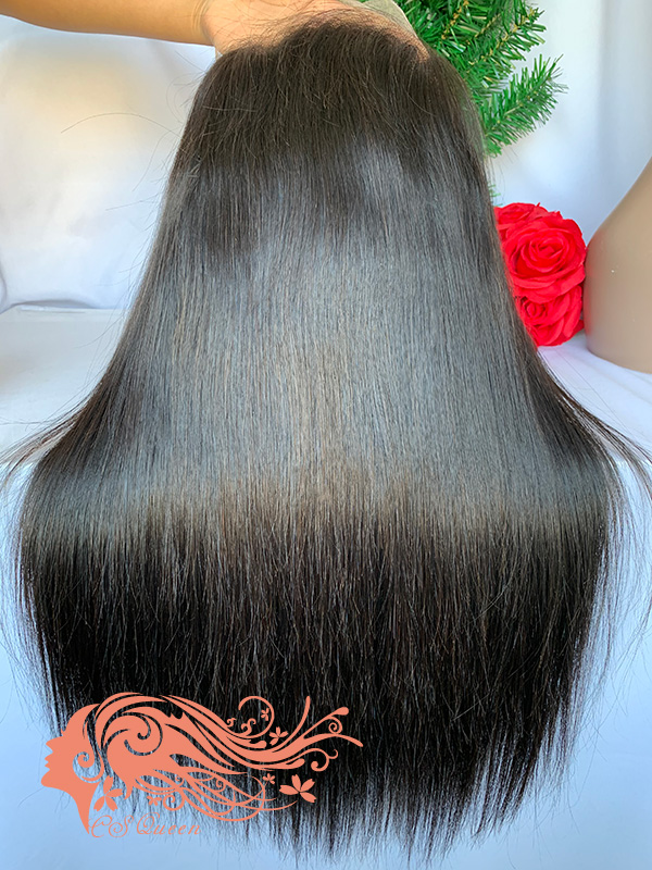 Csqueen Raw Straight U part wig 100% Raw Hair 180%density