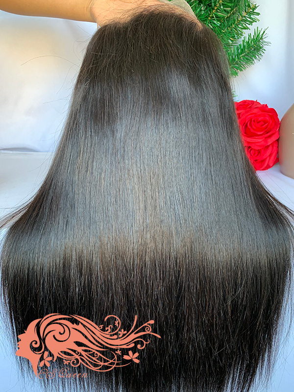 Csqueen Raw Straight U part wig 100% Raw Hair 200%density