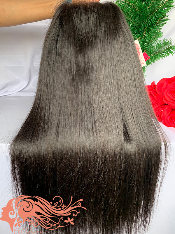 Csqueen Raw Straight U part wig 100% Raw Hair 150%density