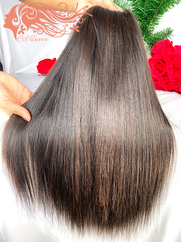 Csqueen Raw Straight hair 5*5 HD Lace Closure wig 100% Human Hair HD Wig 200%density