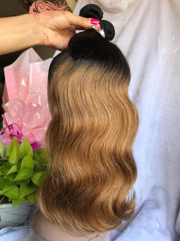 Csqueen 9a Ombre Color 1b27 Body Wave Hair 3 Bundles Virgin Hair
