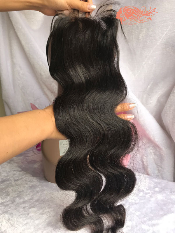 Csqueen 8A Body Wave 5x5 Lace Closure Virgin Brazilian Human Hair Lace