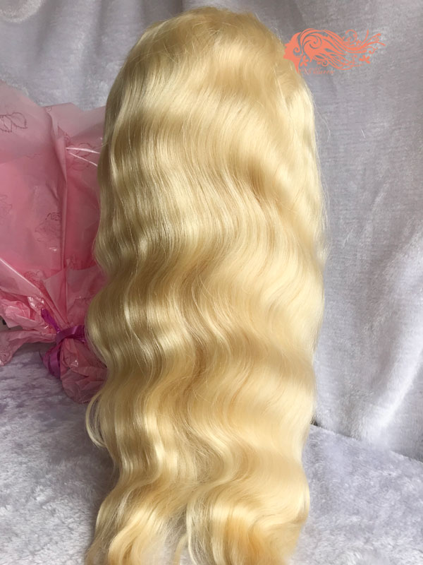 Csqueen 8A Body Wave Frontal WIG #613 Blonde 100% Virgin Hair 150%density