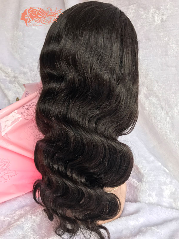 Csqueen Mink hair Body Wave Frontal WIG 100% Human Hair 150%density