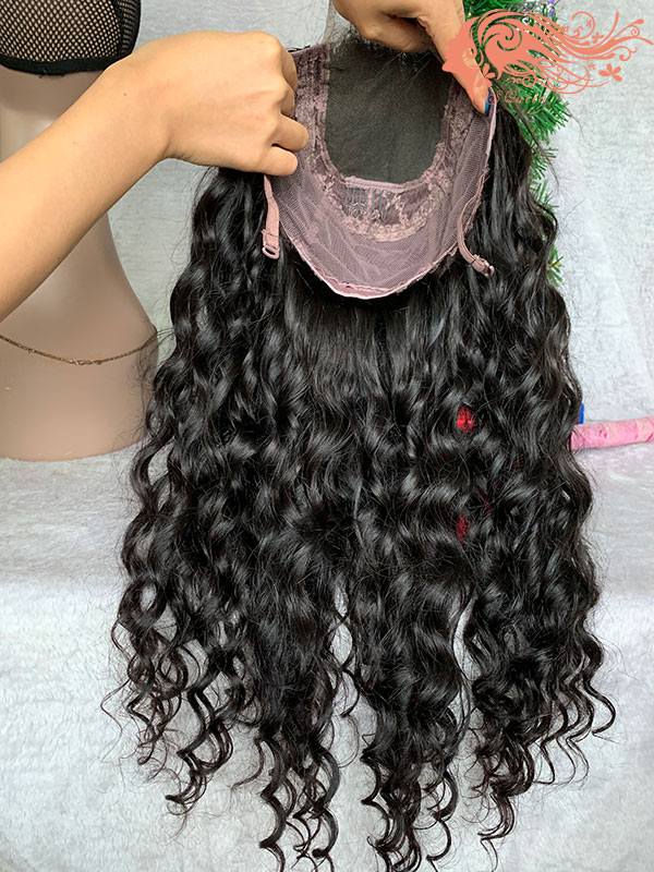 Csqueen Mink hair Loose Curly Closure WIG 100% Human Hair 180%density
